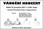 Vánoční koncert 15.prosince 2017